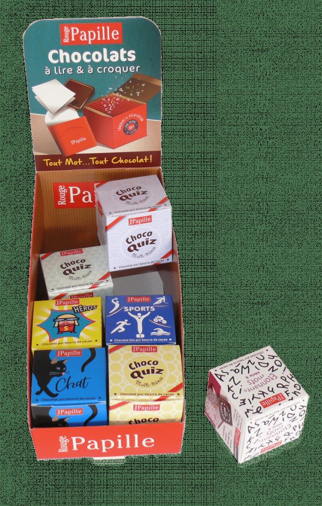 PLV carton pour boite de chocolat