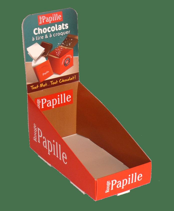 PLV carton pour chocolat